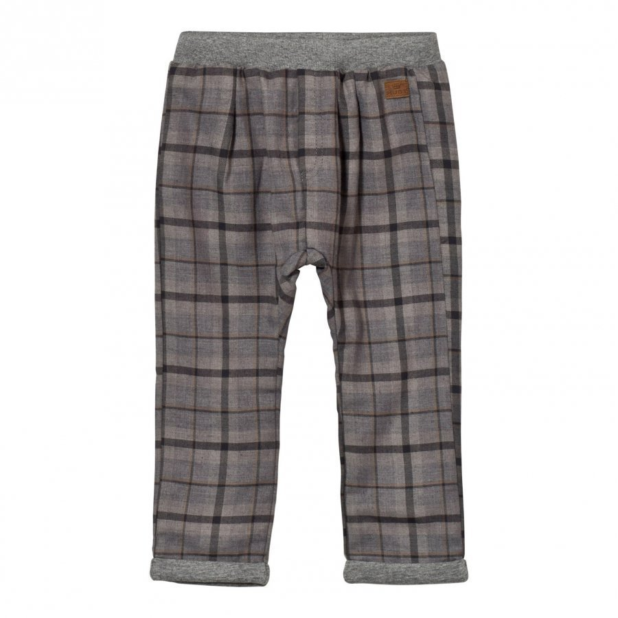 Hust & Claire Plaid Twill Trousers Grey Housut