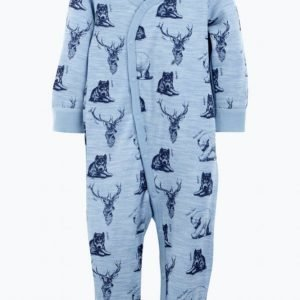Hust & Claire Pyjama Jossa Eläintenkuvia