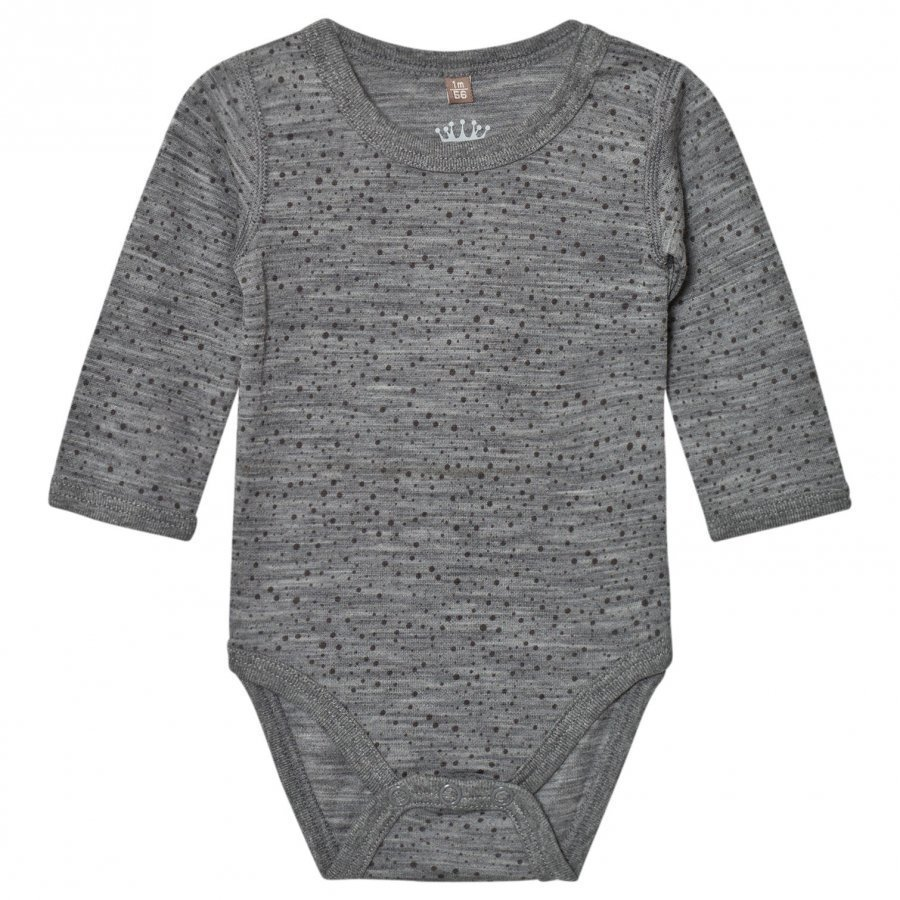 Hust & Claire Spotted Baby Body Wool Grey Body
