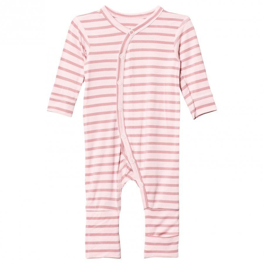 Hust & Claire Striped Jumpsuit Bamboo Rose Tan Body