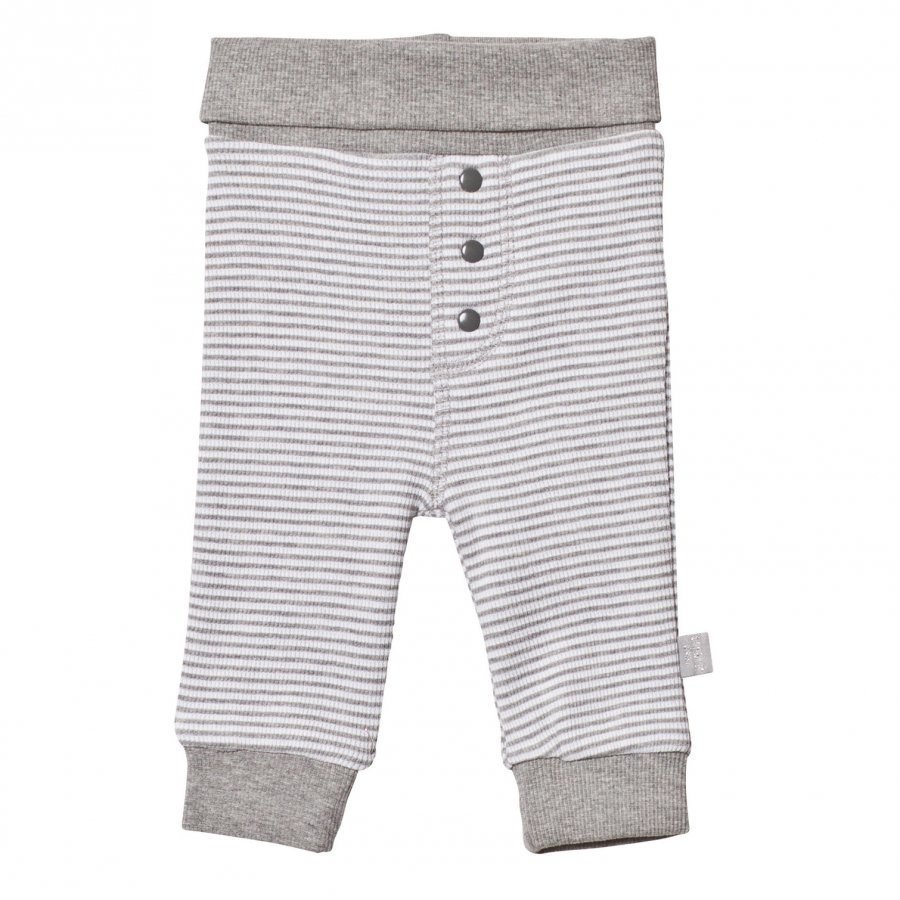 Hust & Claire Striped Sweatpants Light Grey Mélange Verryttelyhousut