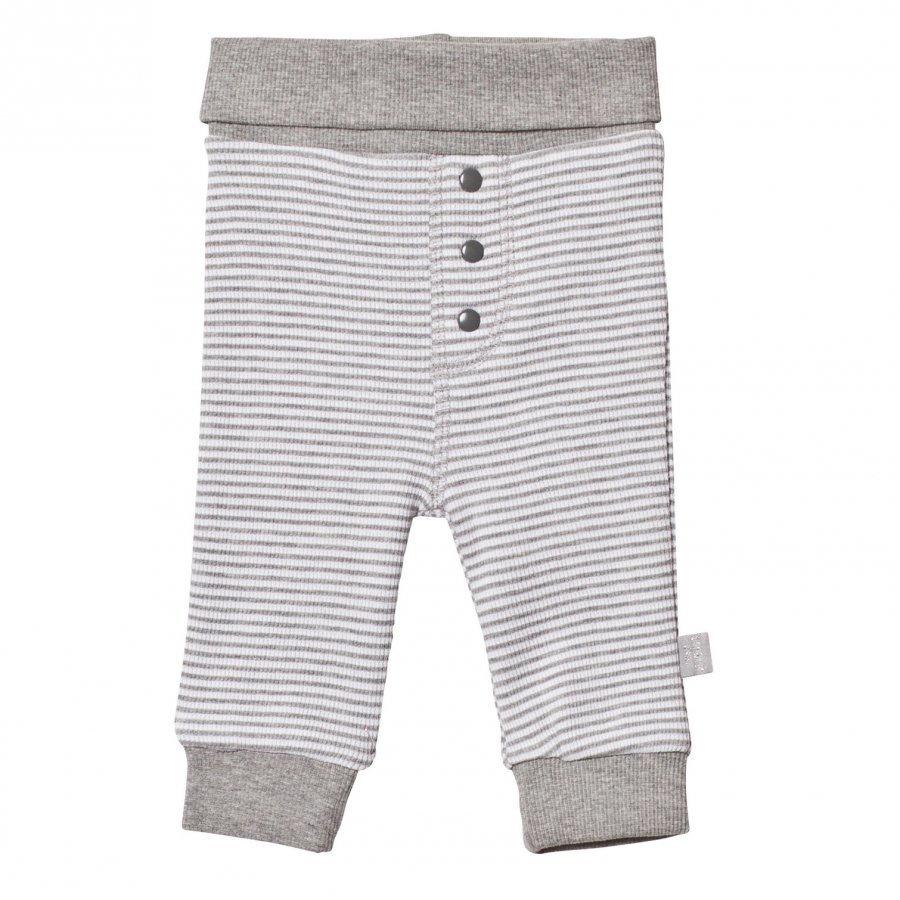 Hust & Claire Striped Sweatpants Light Grey Mélange Verryttelyhousut