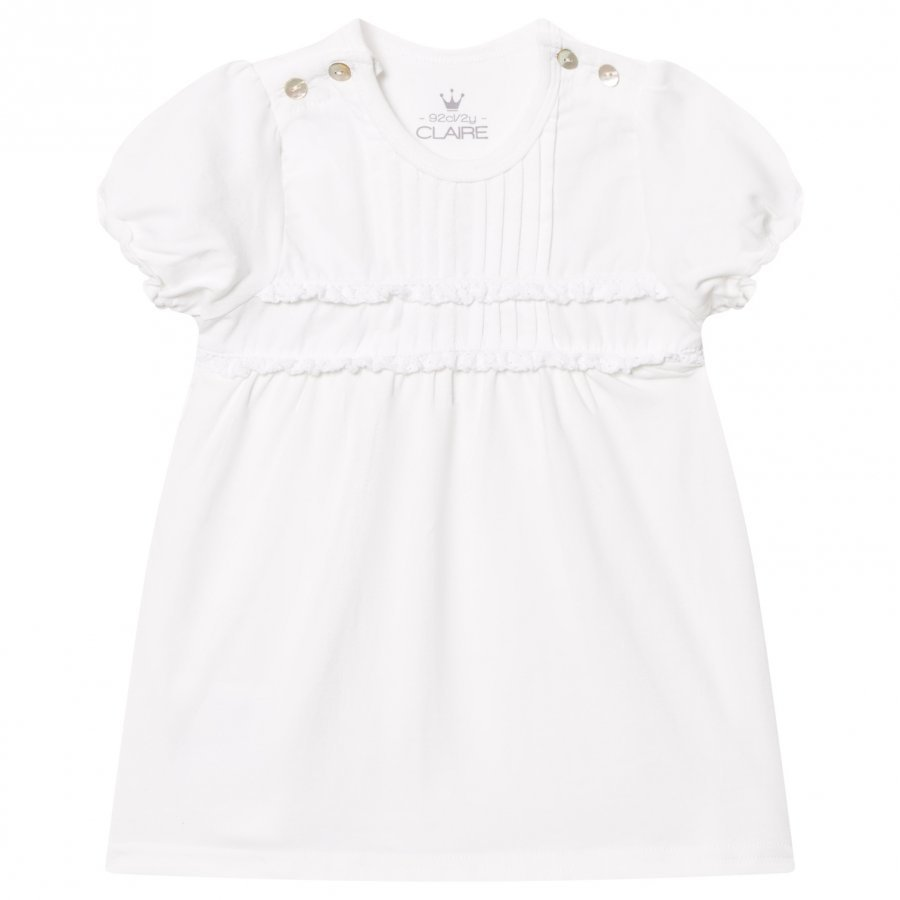 Hust & Claire T-Shirt With Pleats White T-Paita