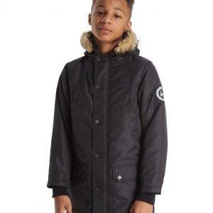 Hype Fur Parka Musta