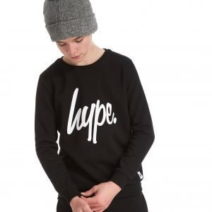Hype Script Fleece Crew Sweatshirt Musta
