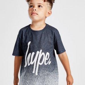 Hype Speckle Fade T-Paita Musta