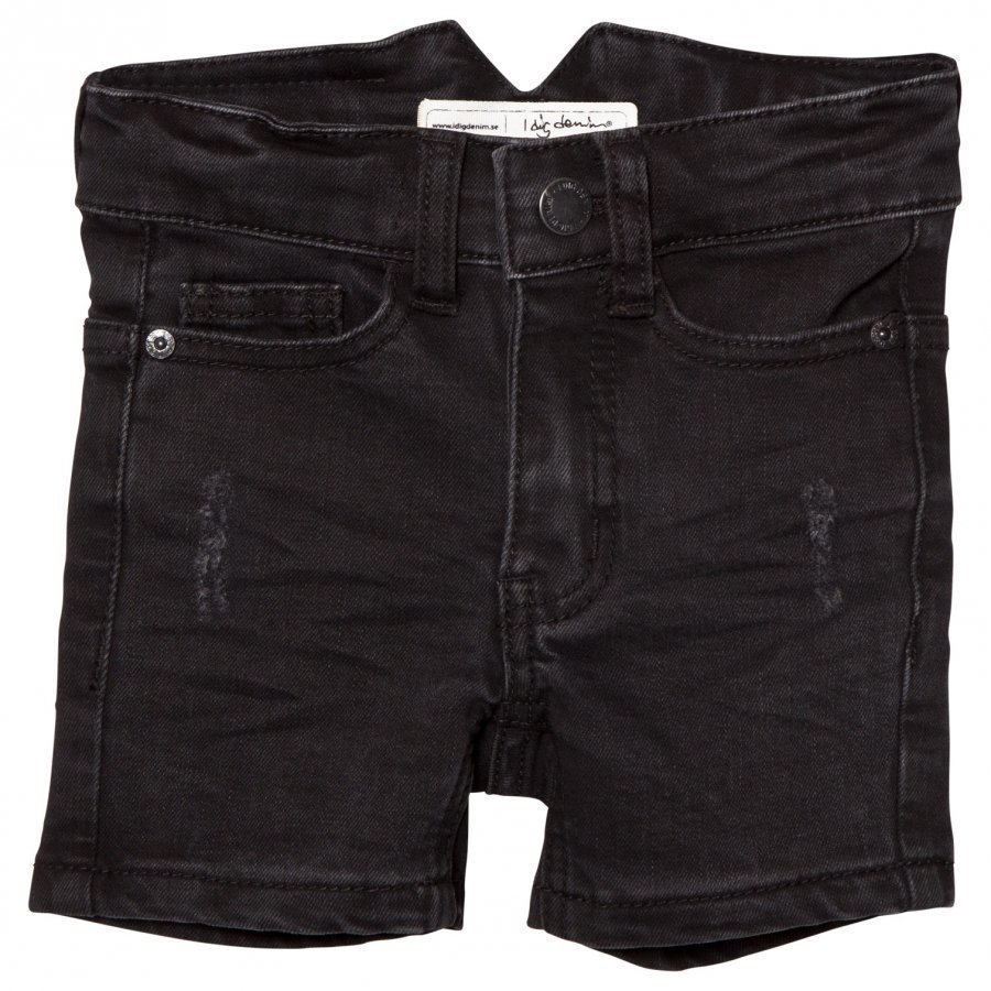 I Dig Denim Arizona Shorts Black Farkkushortsit