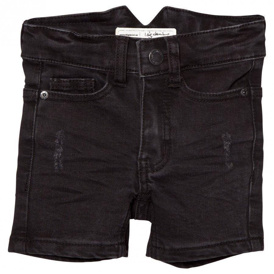 I Dig Denim Arizona Shorts Black Farkkushortsit