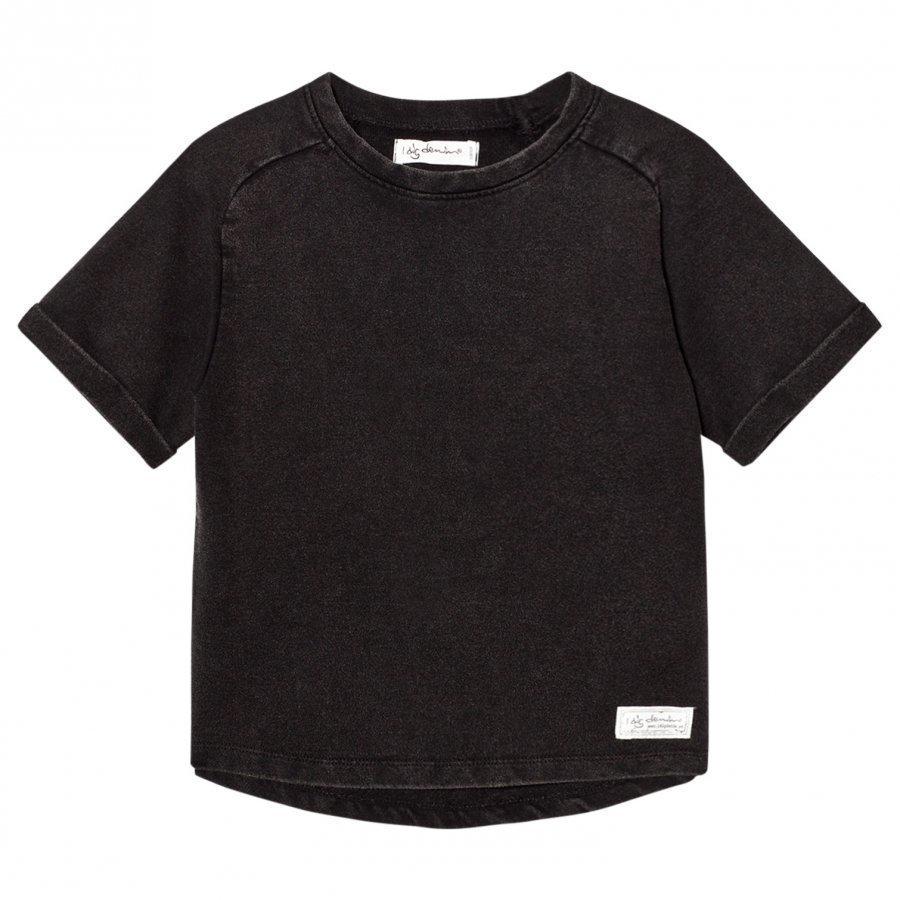 I Dig Denim Ben Sweater Tee Black Washed T-Paita