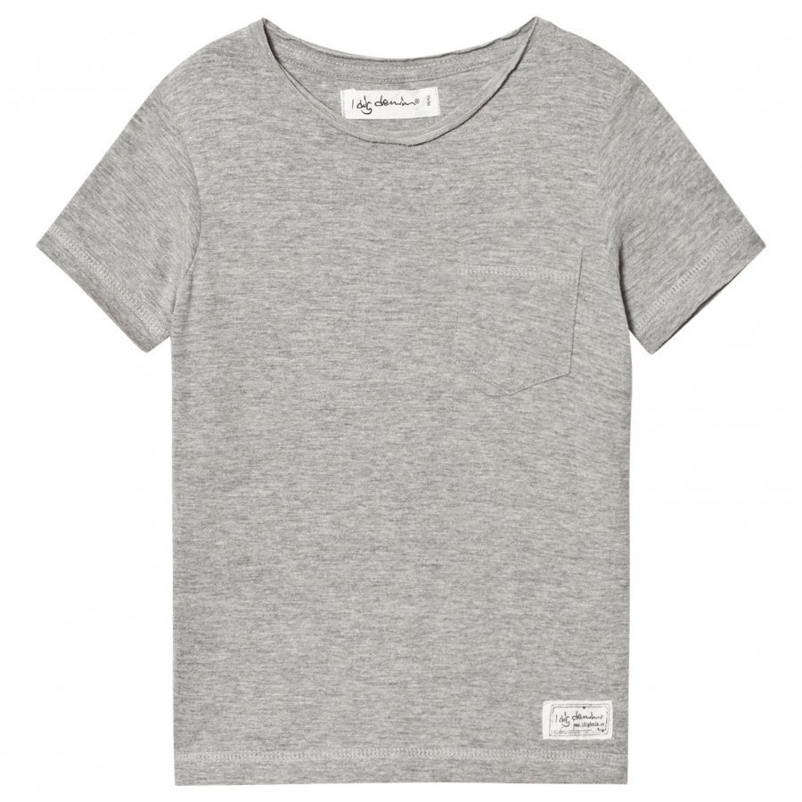 I Dig Denim Como Tee Grey Melange T-Paita
