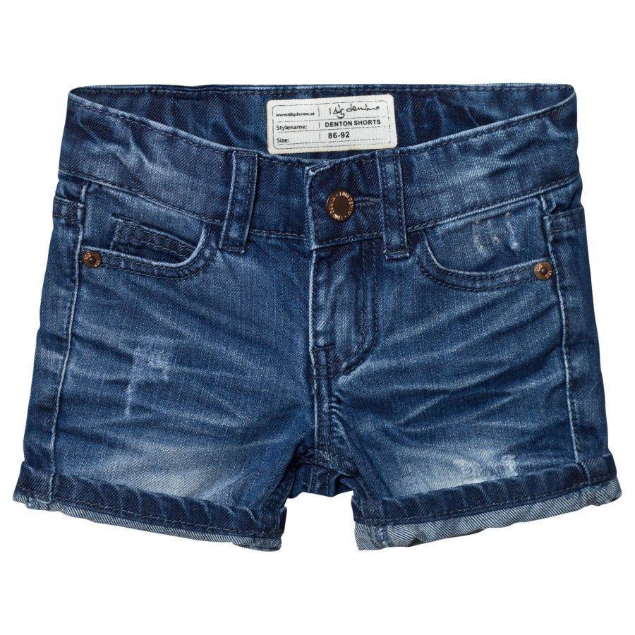I Dig Denim Denton Shorts Dark Blue Farkkushortsit