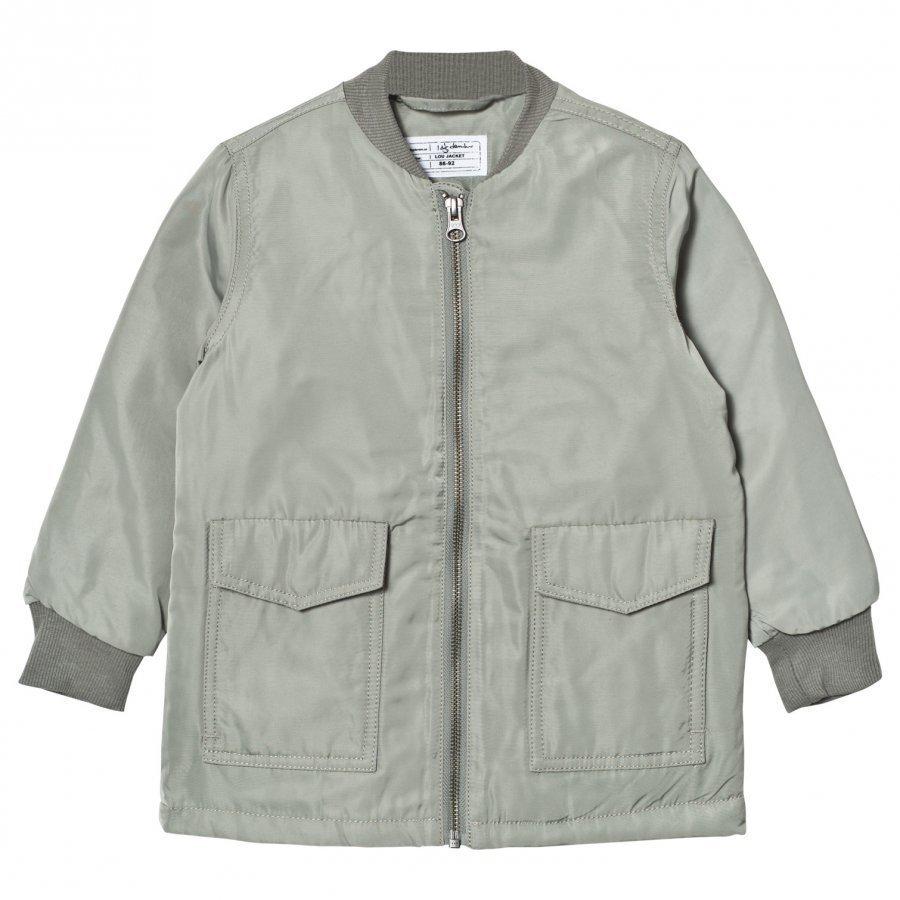 I Dig Denim Lou Jacket Green Bomber Takki