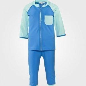 Ia Bon Boys Uv Suit Ocean Blue Aurinkopuku