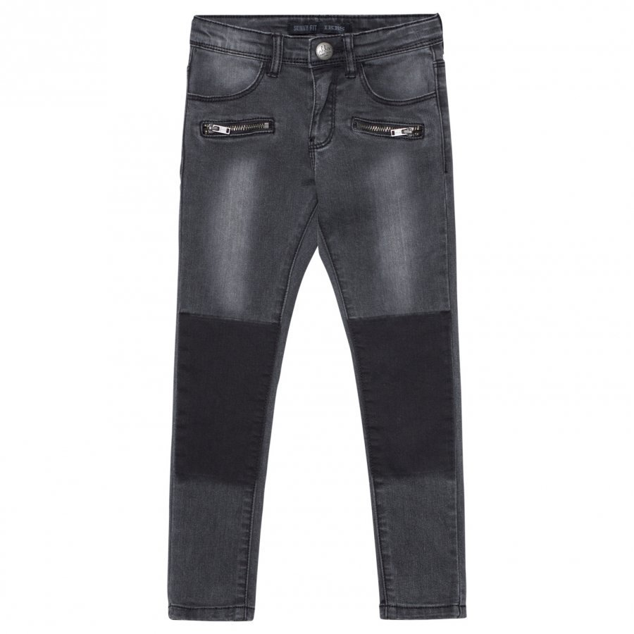 Ikks Black Jeans With Zip Pocket Detail Farkut