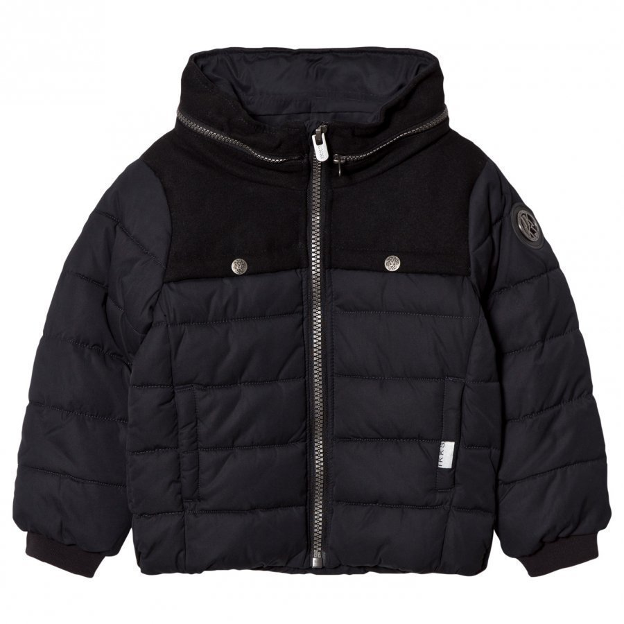 Ikks Black Padded Coat Toppatakki