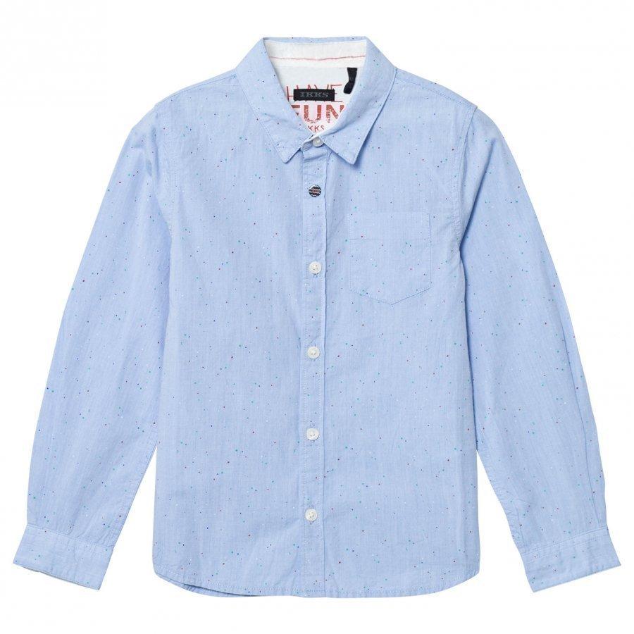 Ikks Blue Multi Speck Shirt Kauluspaita
