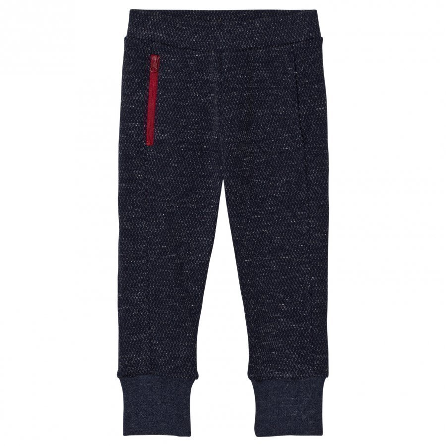 Ikks Blue Textured Sweat Pants Verryttelyhousut