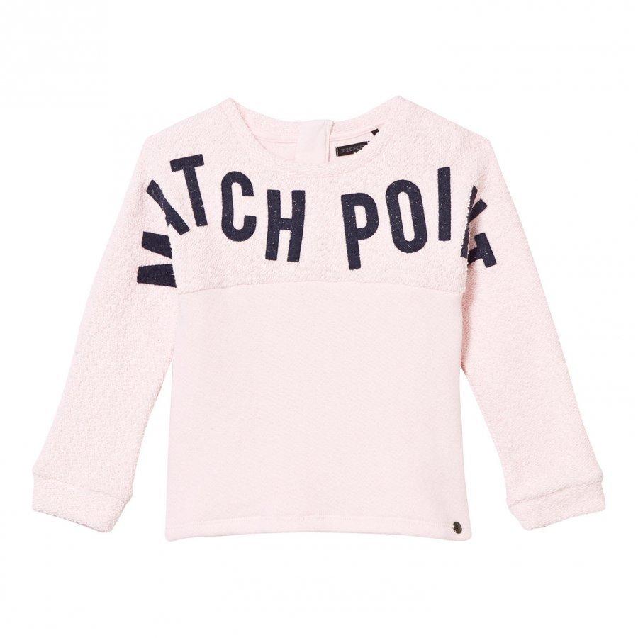 Ikks Bouclette Match Point Print Sweater Pale Pink Oloasun Paita
