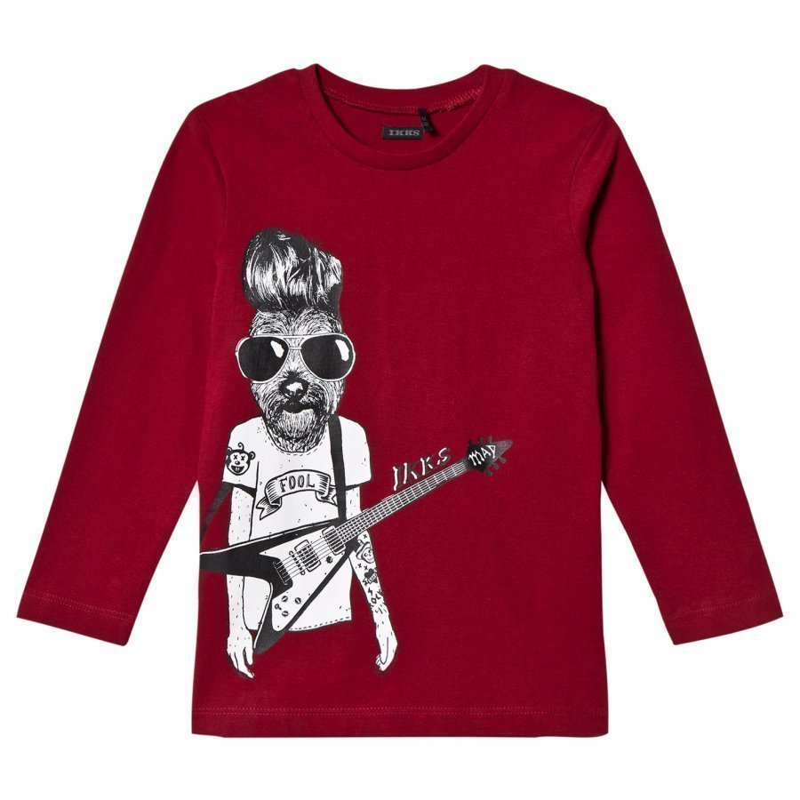 Ikks Burgundy Dog Rocker Tee T-Paita