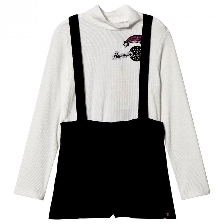 Ikks Cream Polo Neck Jersey Shorts Set Asusetti