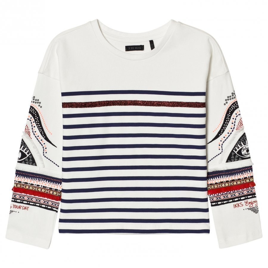Ikks Multi Patterned Tee White T-Paita