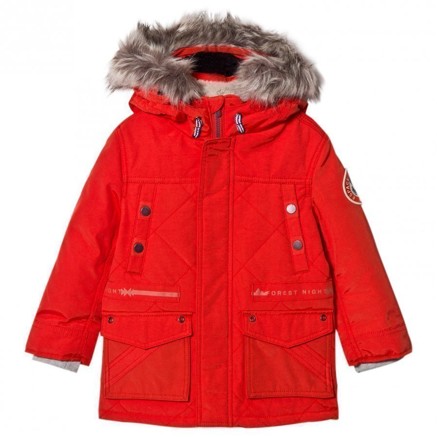 Ikks Orange Padded Parka Parkatakki