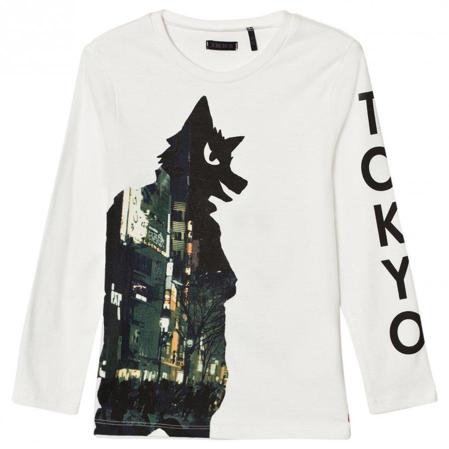 Ikks Tokyo Wolf Print Tee T-Paita
