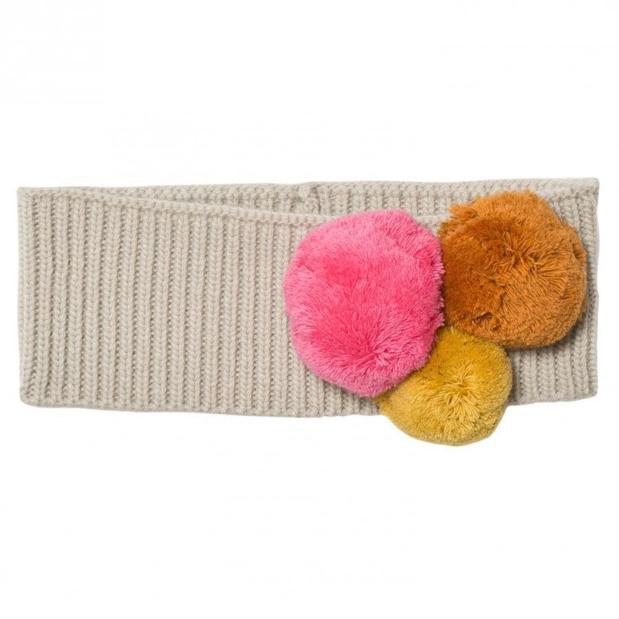 Il Gufo Beige And Multi Pom Pom Knit Headband Hiuspanta