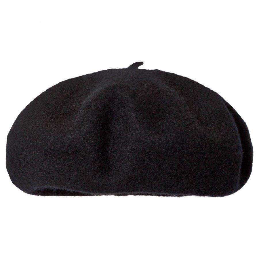 Il Gufo Black Wool Beret Pipo