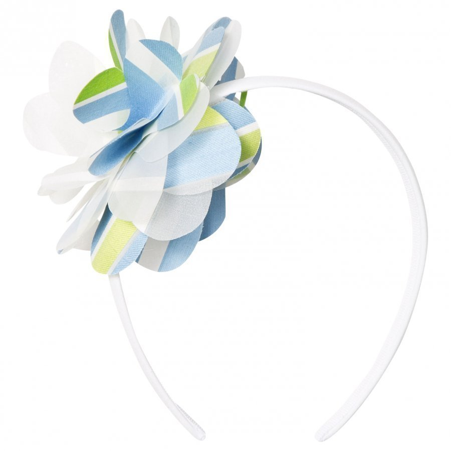 Il Gufo Blue Green Flower Headband Hiuspanta