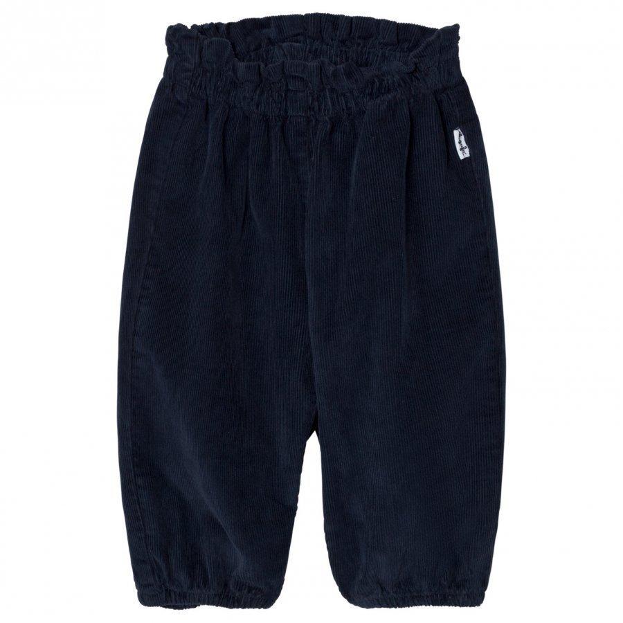 Il Gufo Corduroy Pants Navy Housut