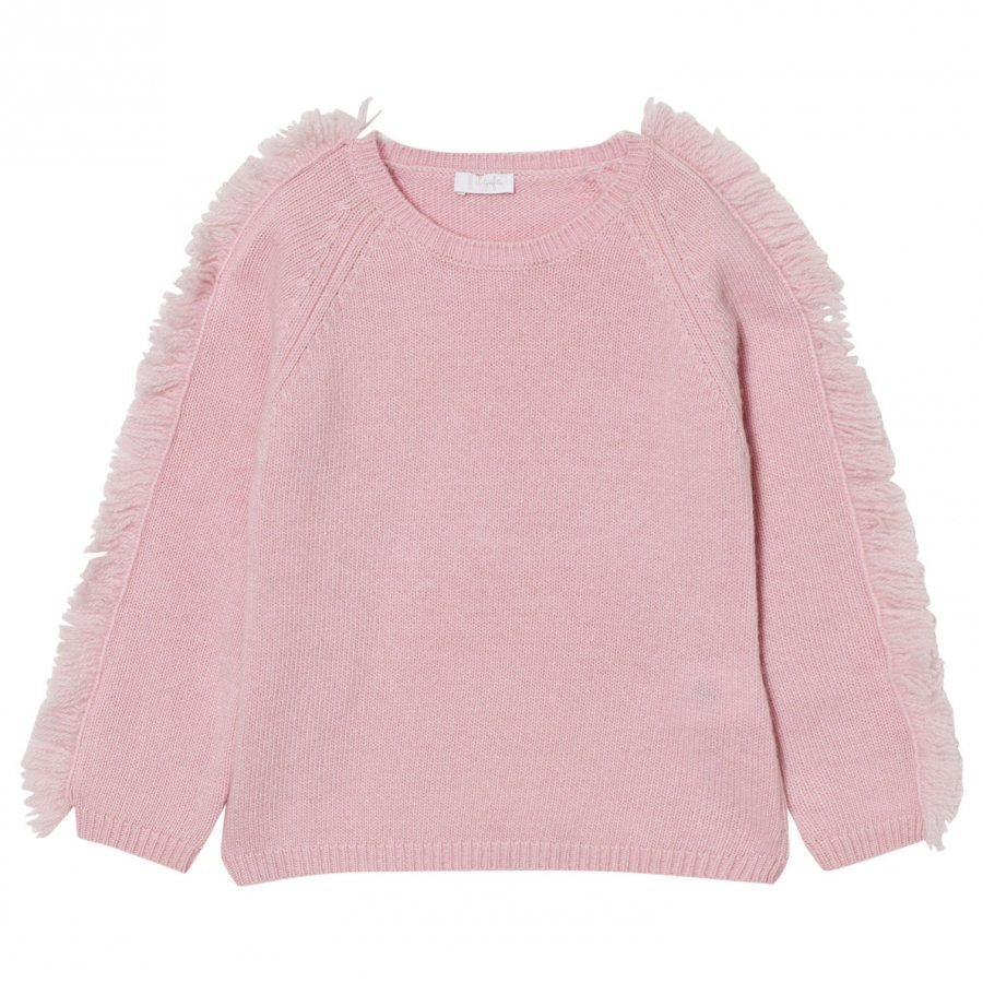 Il Gufo Frill Shoulder Sweater Pale Pink Paita