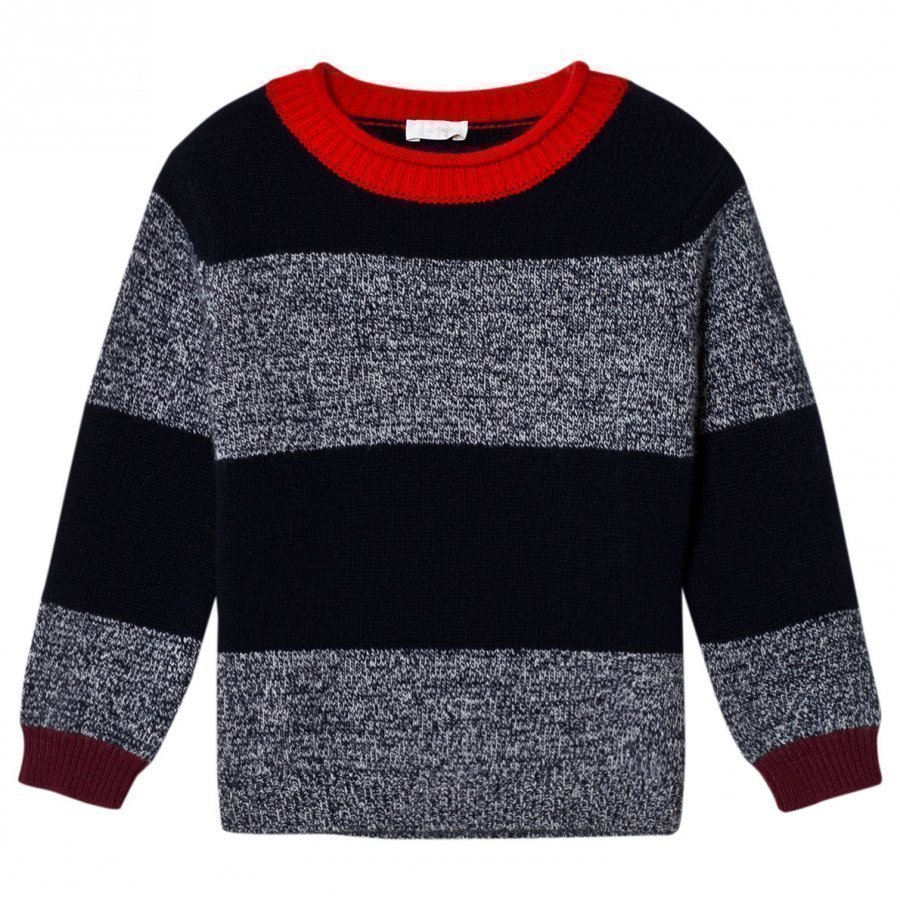 Il Gufo Navy And Marl Sweater Paita