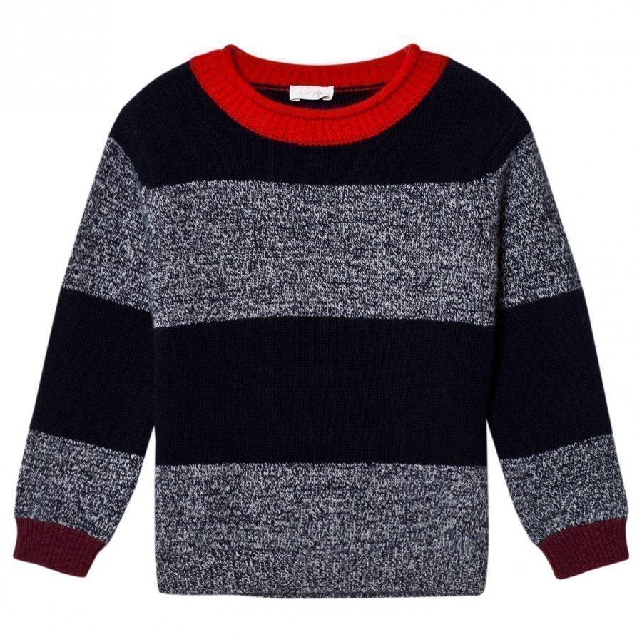 Il Gufo Navy And Marl Sweater Paita