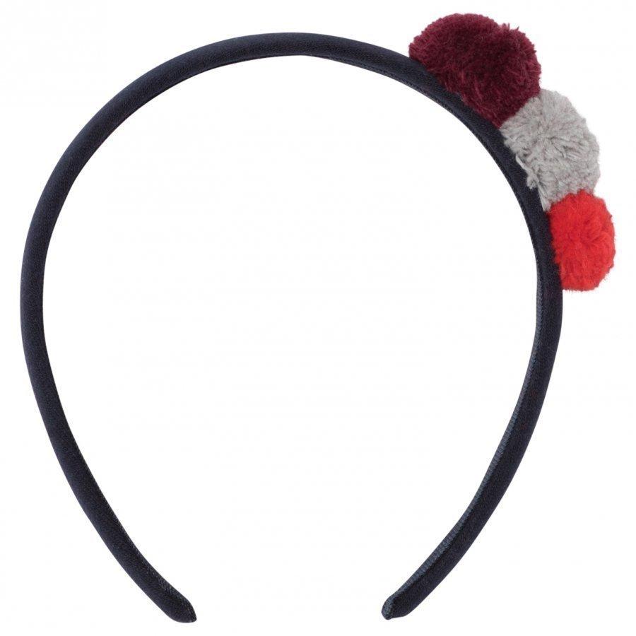 Il Gufo Navy Pom Pom Headband Hiuspanta