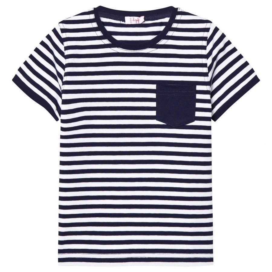 Il Gufo Navy Stripe Pocket Tee T-Paita