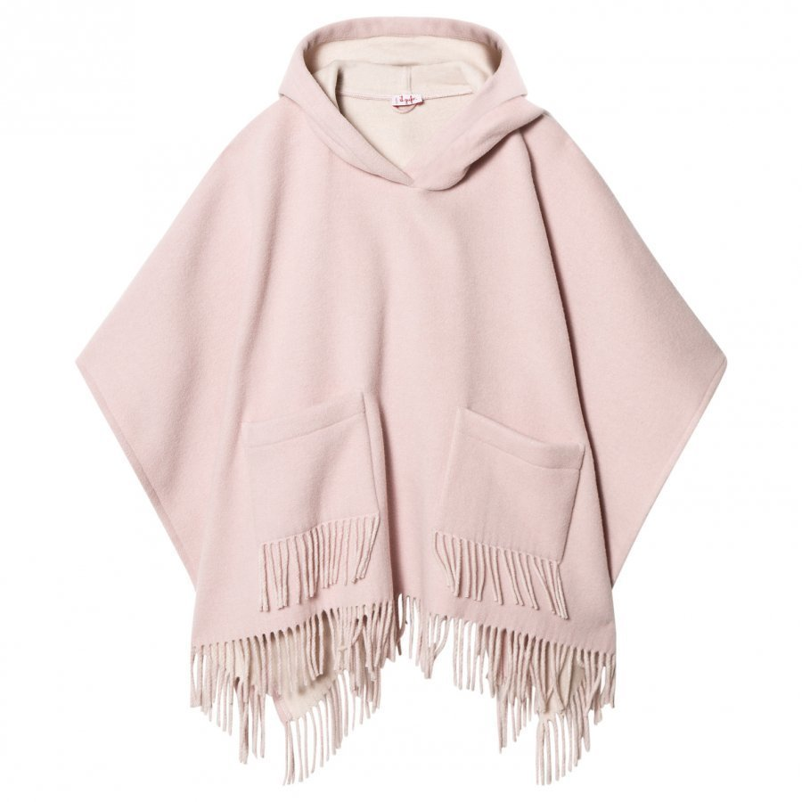 Il Gufo Pink Brushed Wool Fringe Cape Viitta