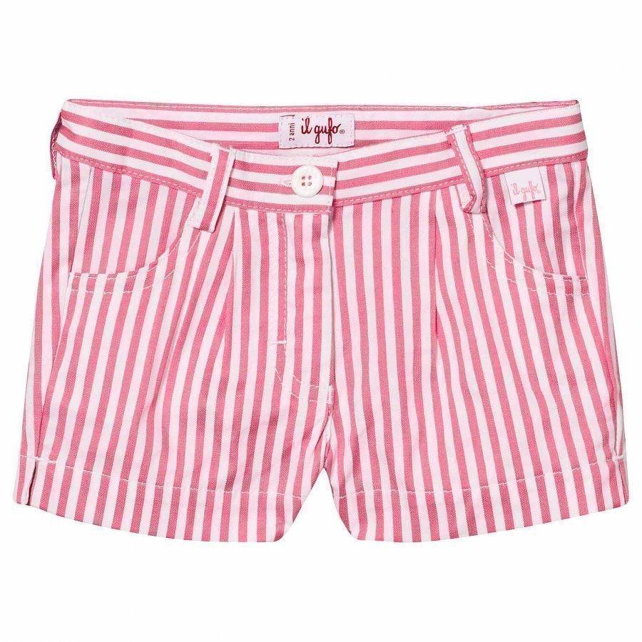 Il Gufo Pink Candy Stripe Shorts Juhlashortsit