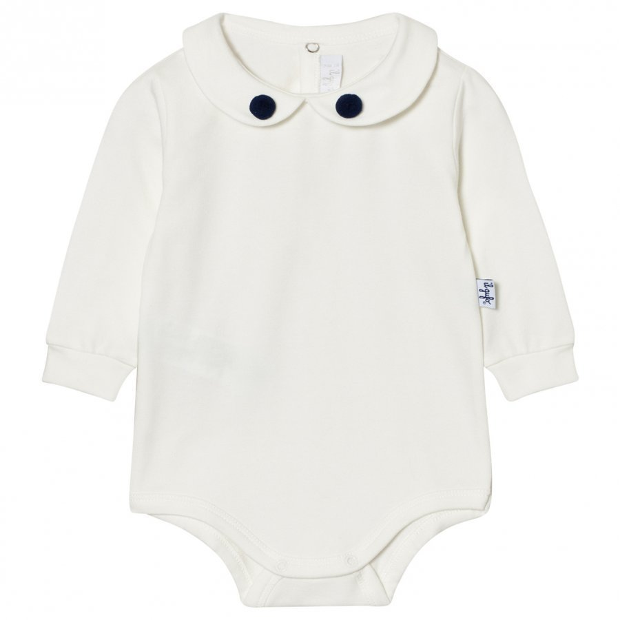Il Gufo Pom Pom Collar Baby Body Off White Body