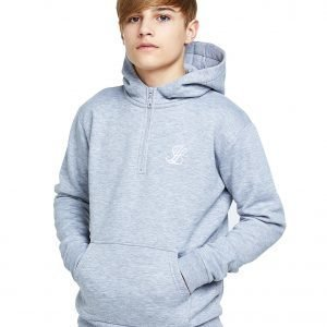 Illusive London 1/2 Zip Fleece Hoodie Harmaa