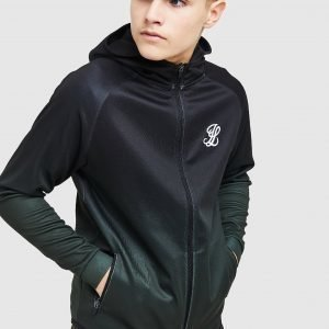 Illusive London Fade Poly Full Zip Hoodie Musta