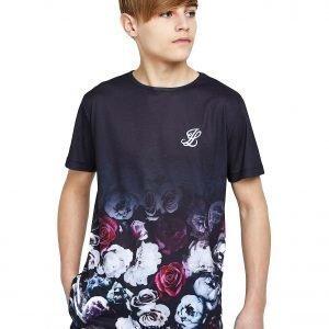 Illusive London Floral Fade T-Shirt Laivastonsininen