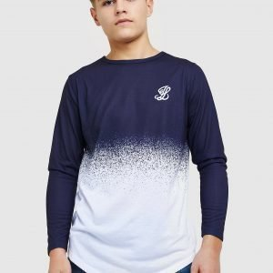 Illusive London Long Sleeve Fade T-Paita Laivastonsininen