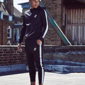 Illusive London Poly Reflective Panel Track Pants Musta