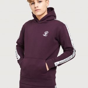 Illusive London Tape Fleece Overhead Huppari Burgundy / White