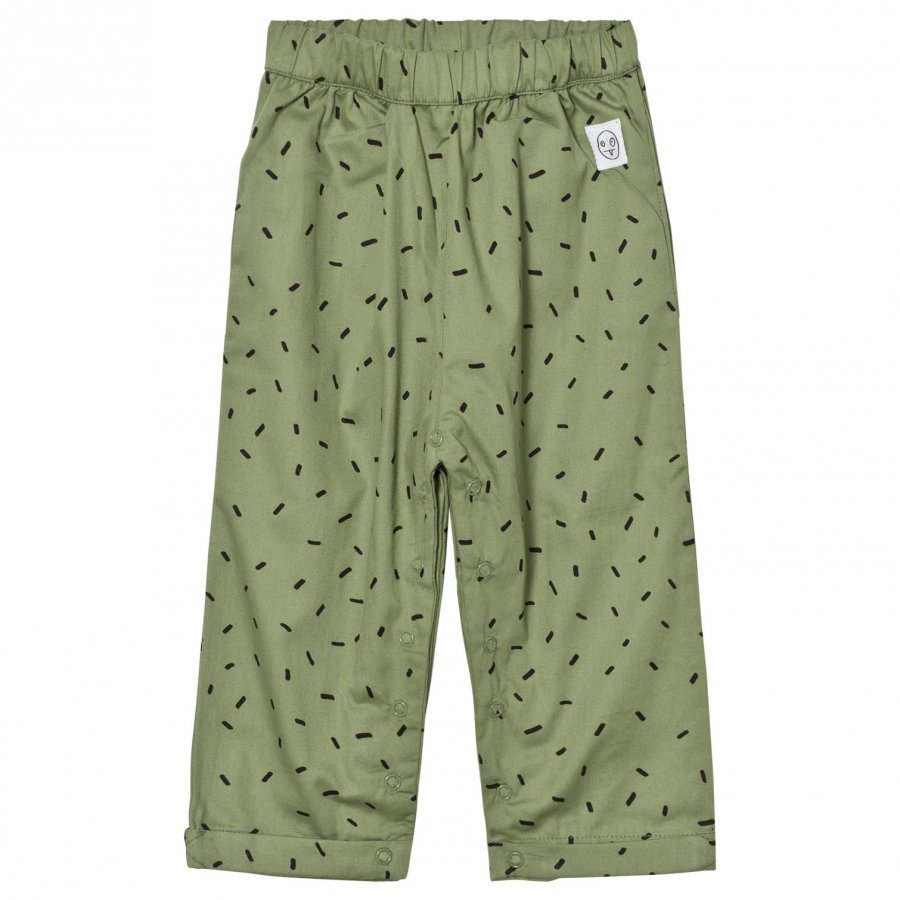 Indikidual Dark Green Dash Print Harem Trousers Harem Housut