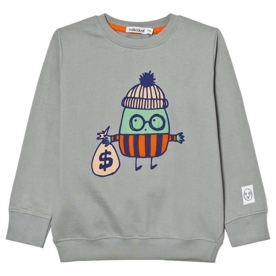 Indikidual Grey Robber Print Sweatshirt Oloasun Paita
