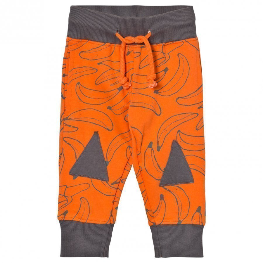 Indikidual Orange Banana Grey Patches Sweatpants Verryttelyhousut