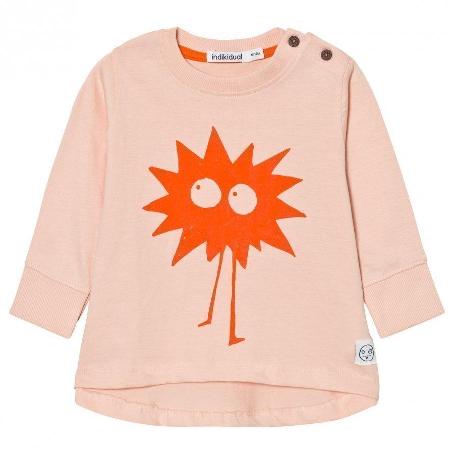 Indikidual Peach Bandit Print T-Shirt T-Paita