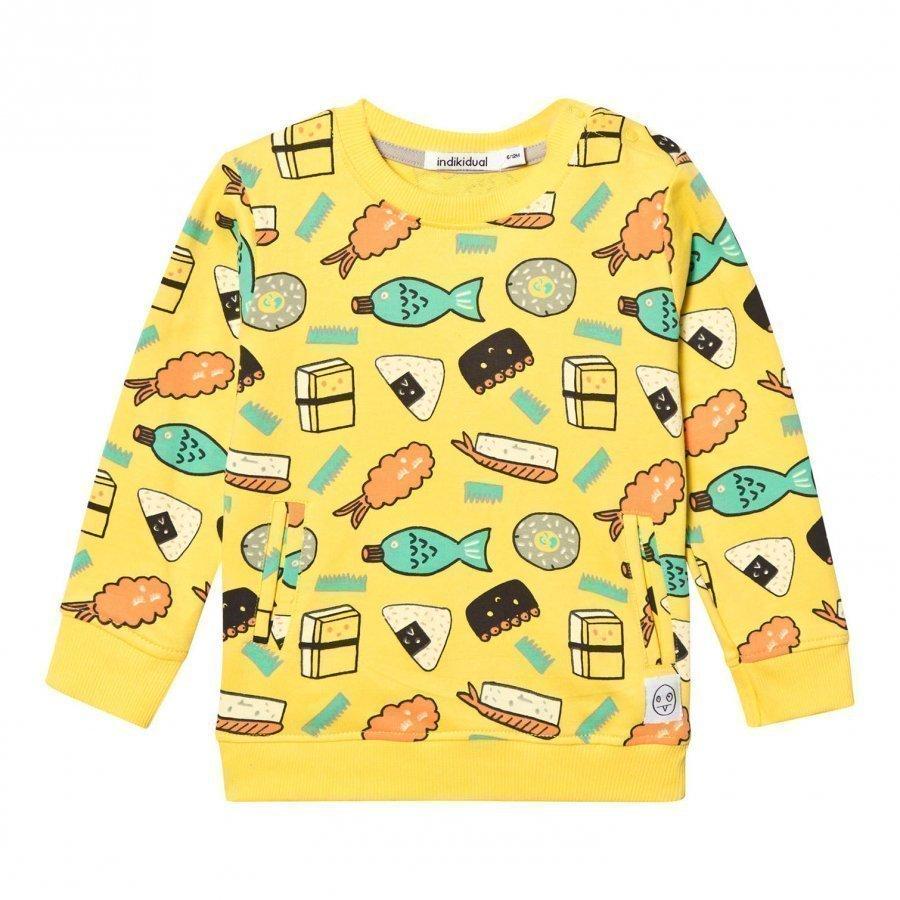 Indikidual Yellow Roe Sweatshirt Oloasun Paita